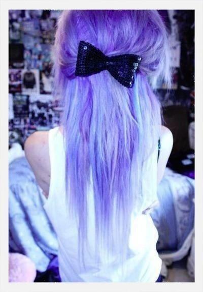 Colored Hair Hair Bow Purple ♥