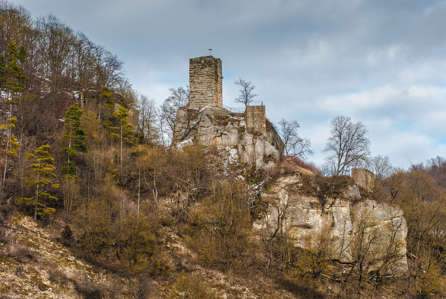 Architecture Built Structure Castle Cloud Cloud - Sky Damaged Day Demolished Hill History Low Angle View Medieval Nature Old Outdoors Remote Ruined Sky Southern Germany Swabian Alb The Past Tranquil Scene Tranquility Tree