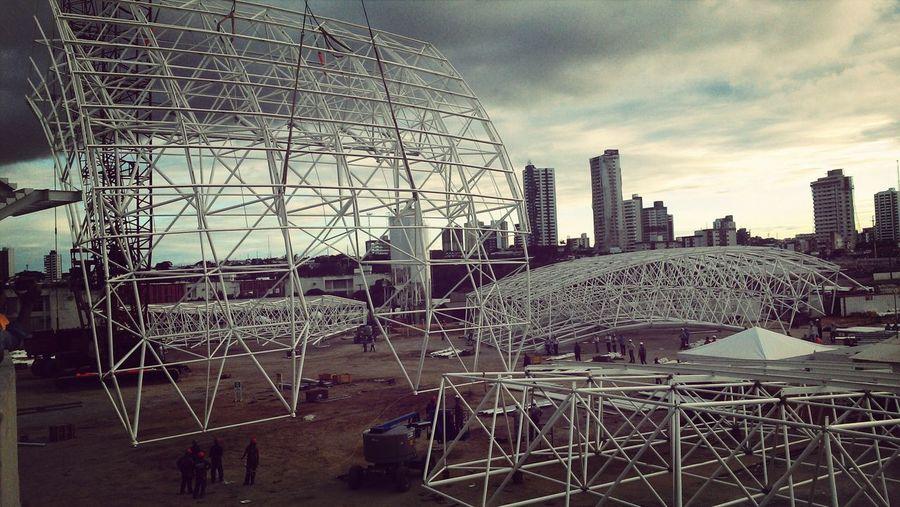 Mounting stadium coverage part.1 (2013). Engeneering Stadium Worldcup2014 Natal - RN