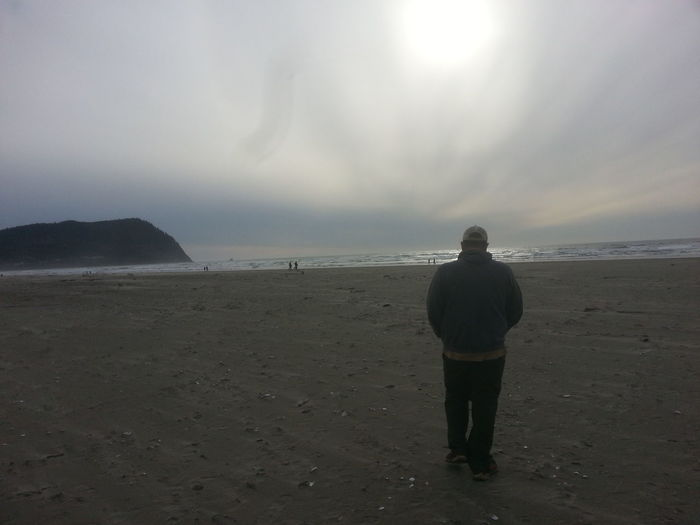 Tillamook Head Seaside Oregon Northcoastrecovery Beach Sand Full Length Rear View Sea Landscape Standing One Person One Man Only People Adult Horizon Over Water Only Men Outdoors Loneliness Tranquility Adults Only Mature Adult Sky Summer