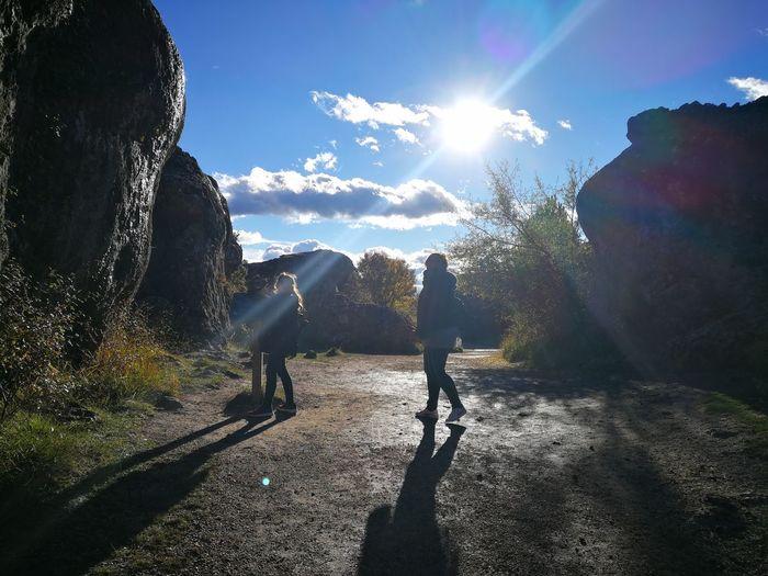 Men Togetherness Shadow Friendship Sunlight Sky