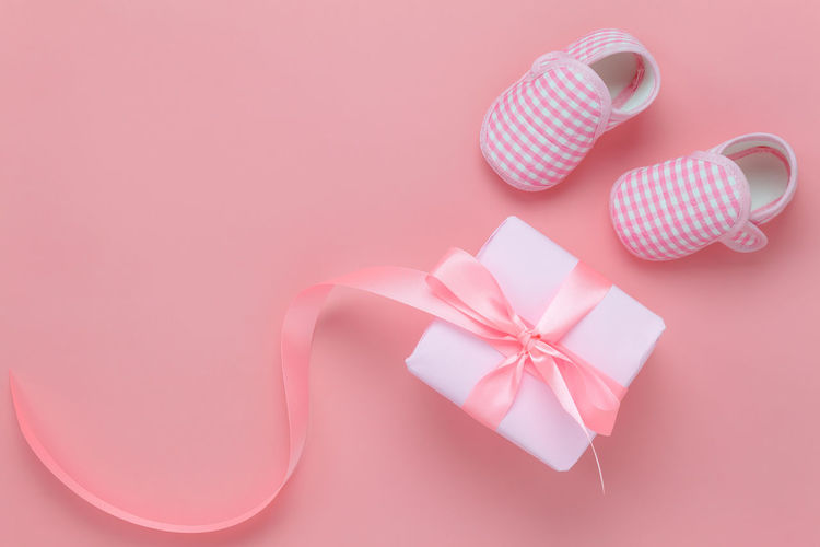 Close-up Day Gift Indoors  Love No People Pink Background Pink Color Ribbon - Sewing Item