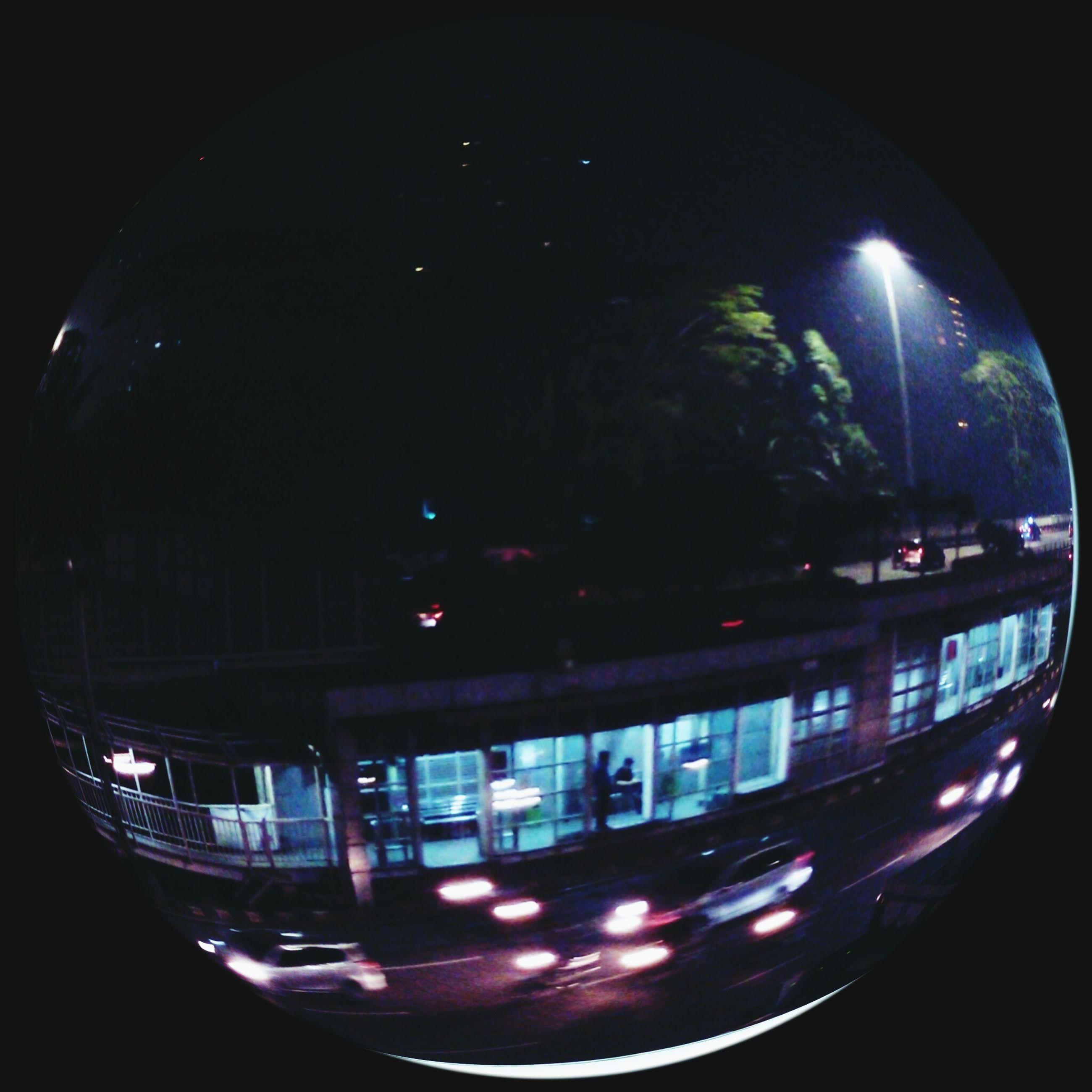 night, illuminated, motion, sky, light trail, glowing, no people, city, outdoors, multi colored, dark, city life