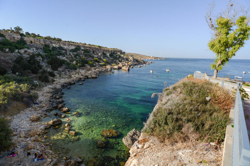 Happy Malta Sand Beach Summer Views Summertime Beach Beach Umbrella Beauty In Nature Blue Clear Sky Cliff Coast Day High Angle View Horizon Over Water Malta♥ Maltese Nature No People Outdoors Sand Scenics Sea Seaside Sky Summer Tranquil Scene Tranquility Tree Umbrellas Water