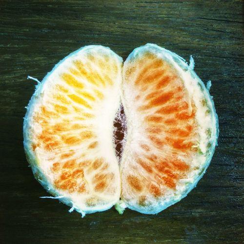 Orange slice on