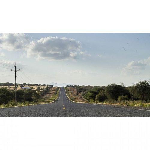 Own the road, from here to the horizon. SomewhereinKenya Seekenya TembeaKenya FlatOut Roadto Namanga