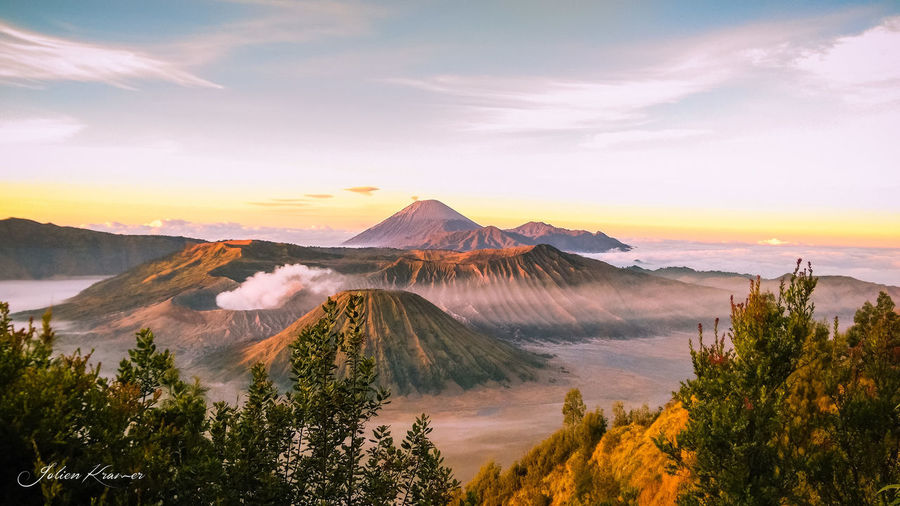Beauty In Nature Cloud - Sky Environment Idyllic Land Landscape Mountain Mountain Peak Nature No People Non-urban Scene Outdoors Physical Geography Plant Scenics - Nature Sky Sunset Tranquil Scene Tranquility Travel Destinations Tree Volcanic Crater The Great Outdoors - 2018 EyeEm Awards