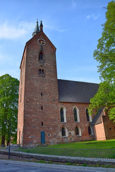 Alt Ruppin Architecture Bell Tower Building Exterior Built Structure Church Clock Clock Tower Day History No People Outdoors Religion Sky Spirituality Tower Tree