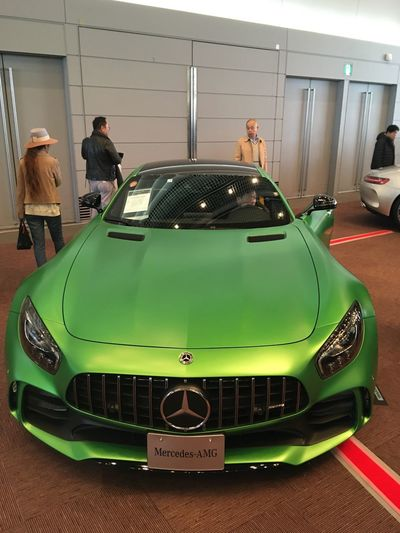Automobile Mercedes-Benz Indoors  Green Color Real People