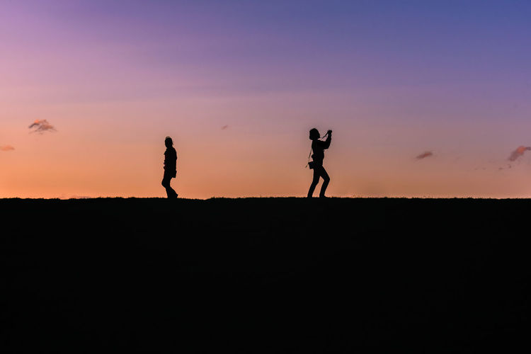 Scotland Adult Boys Child Childhood Day Father Full Length Men Nature Only Men Outdoors People Silhouette Sky Standing Sunset Togetherness Two People Walking Be. Ready.