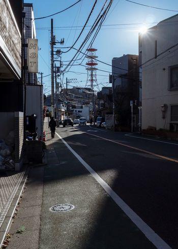 Tokyo, Japan, 2018. 6669 https://instagram.com/p/BizJlWKlv39/ EyeEm Best Shots Japan Photography Transportation City Built Structure Building Exterior Architecture Road Mode Of Transportation Cable City Street Street