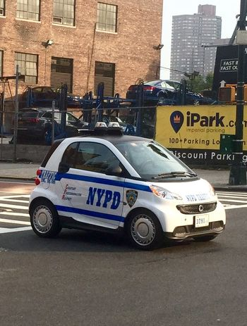 NYC NYPD Smart Car Smart
