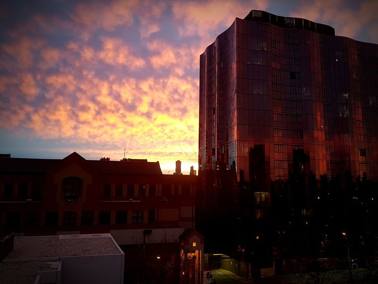Beautiful Bloody Sunset First Eyeem Photo Sunset Beauty In Nature Cityscapes