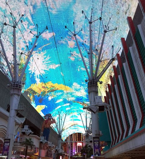 Fremont Street Experience in Las Vegas, NV. Four blocks of overhead LED light show, zip lines and fun. Art Artistic City City Life Color Colors Colorsplash Culture Experience Freemont Street Fun Having Fun Las Vegas LED Lifestyles Light Show Night Night Lights Nightlife Recreational Pursuit Street Art Vacation Zipline