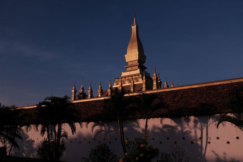 Pha That Luang II Pha That Luang Pha That Luang Vientiane Pha That Luang Laos Buddhism Buddhist Culture Buddhist Temple Religion Religious Architecture Religious Place Laos Vientiane Sunset