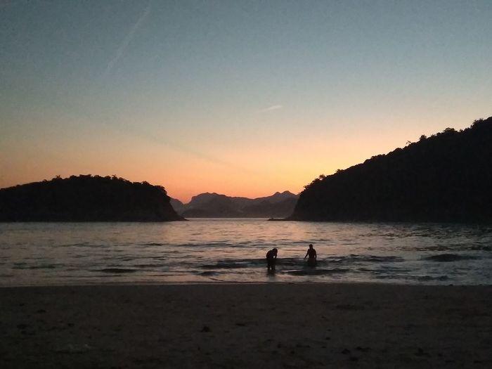 Last Sunday. No filter. Beach Sky Sunset Silhouette