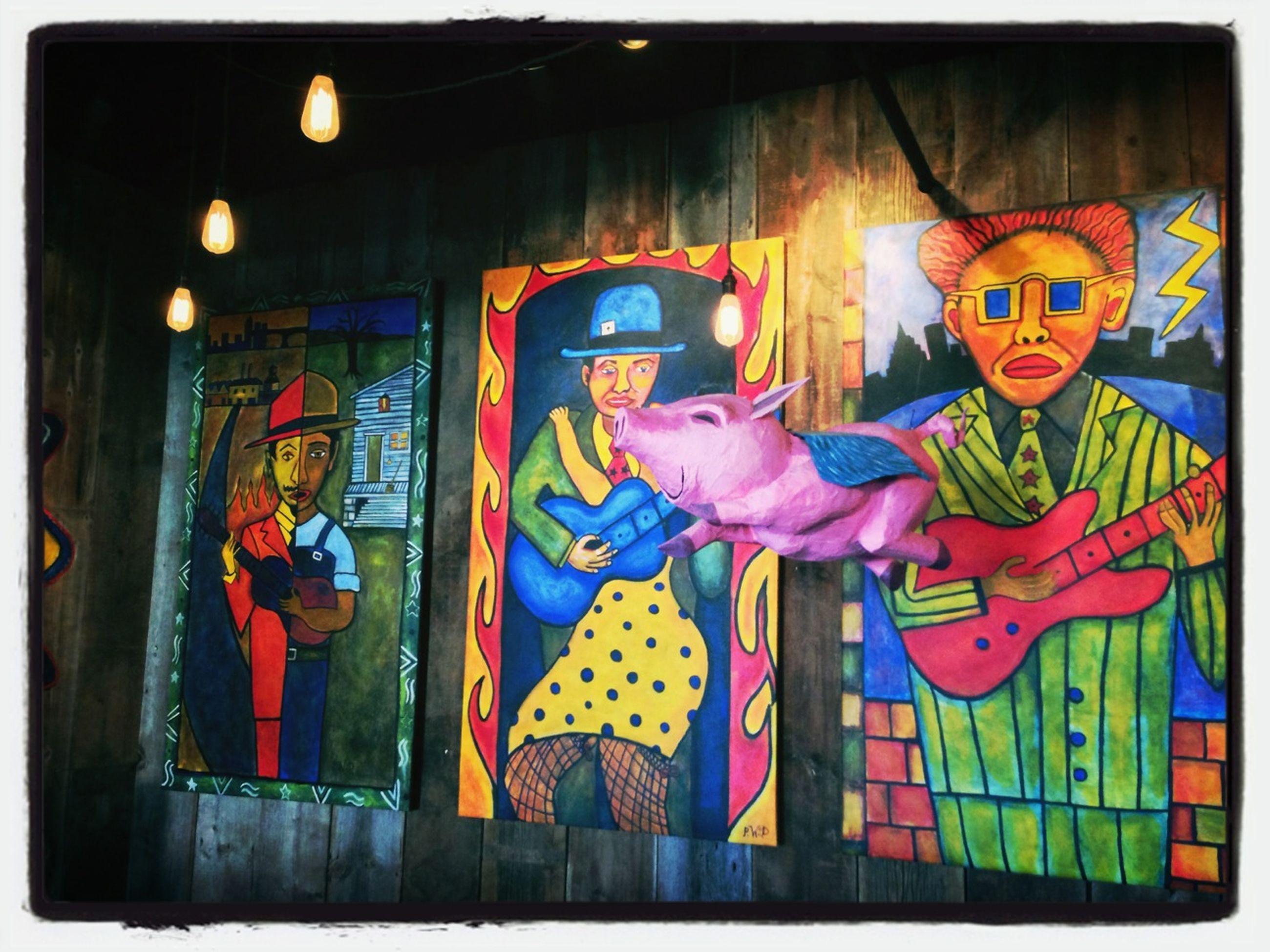 art, art and craft, creativity, transfer print, graffiti, architecture, built structure, human representation, multi colored, building exterior, auto post production filter, animal representation, wall - building feature, mural, text, street art, illuminated, western script