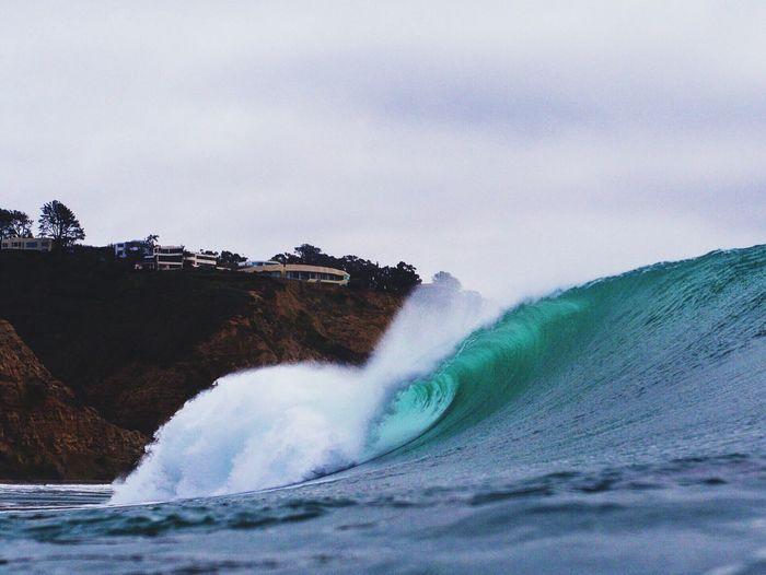 View of waves at sea