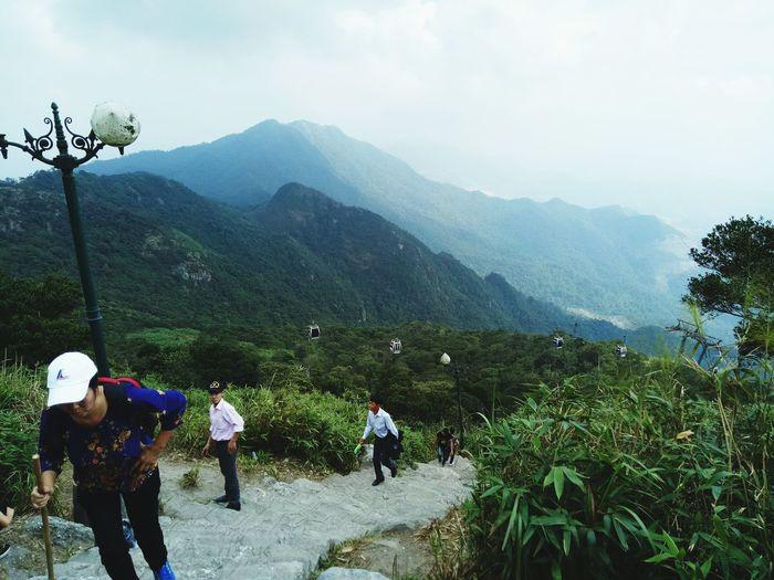 Yen Tu Mountain, Vietnam Tree Mountain Men Togetherness Friendship Sky Mountain Range Landscape