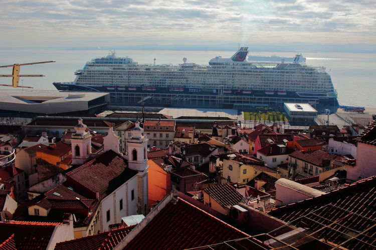 Mein Schiff 2 Lisbon Lissabon, Portugal EyeEm City Shots Lisbon - Portugal Building Exterior Architecture Built Structure Roof Building City Residential District Sky High Angle View Cloud - Sky Cityscape Crowd Crowded Day Travel Destinations Outdoors House Cruise Ship TOWNSCAPE Roof Tile