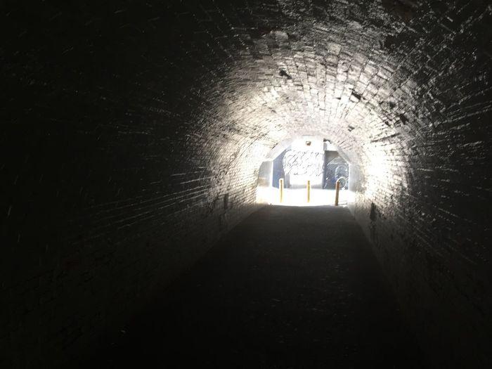 #希望 #光 #暗闇 #美しい #トンネル #未来 #沖縄 #大阪 Black Art Horror Hole White Dark Architecture Lighting Equipment Illuminated Built Structure Lifestyles Nature