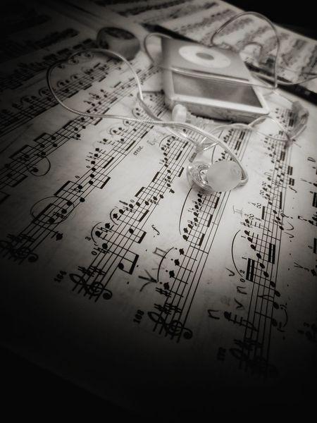 Paper Handwriting  Text First Eyeem Photo Partitur Music Mozart Clasicmusic Ipod Musicschool Musical Instrument Violin No People Indoors  Close-up Formula