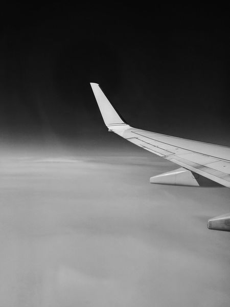The Journey Is The Destination On The Go  Onthego Airplane Flight Bw Bw_collection Black And White Black And White Photography Clouds And Sky Clouds Monochrome Photography