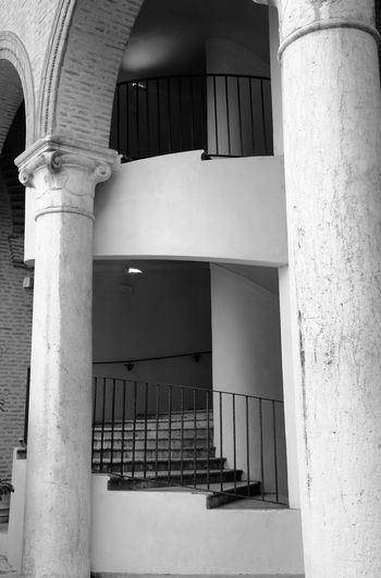 Giro giro tondo Ferrara Italy Light And Shadow Welcome to Black Detail Cityscape EyeEm Best Shots Artcity Architecture_collection Old Buildings Canon5Dmk3 Architecture Built Structure No People Architectural Column Building Building Exterior Day Wall - Building Feature Outdoors Arch Staircase Courtyard  Railing