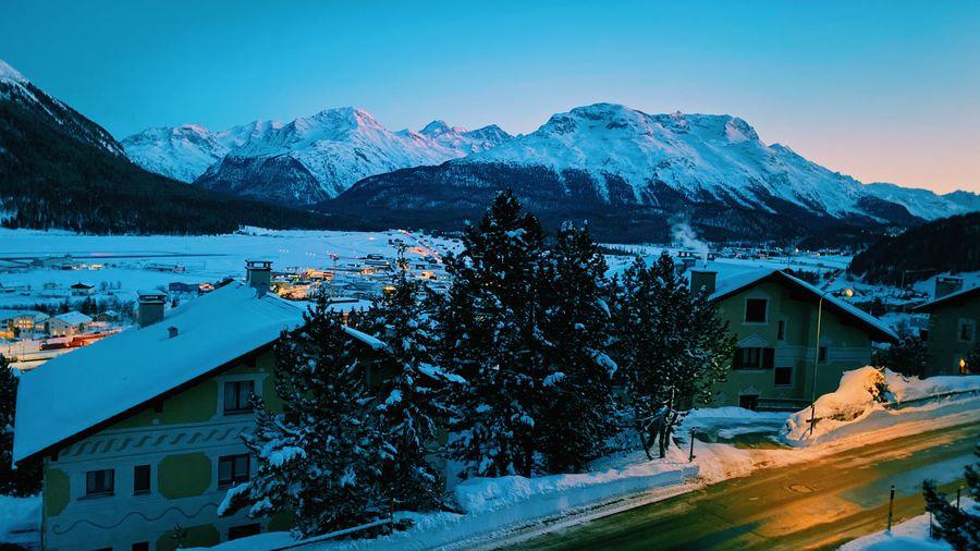 Village with snow