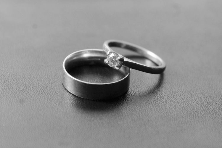 Brushed Metal Celebration Event Close-up Day Diamond Ring Engagement Ring Finger Ring Indoors  Jewelry Love No People Platinum Ring Shiny Togetherness Unity Wedding Wedding Ring Be. Ready. Black And White Friday A New Beginning