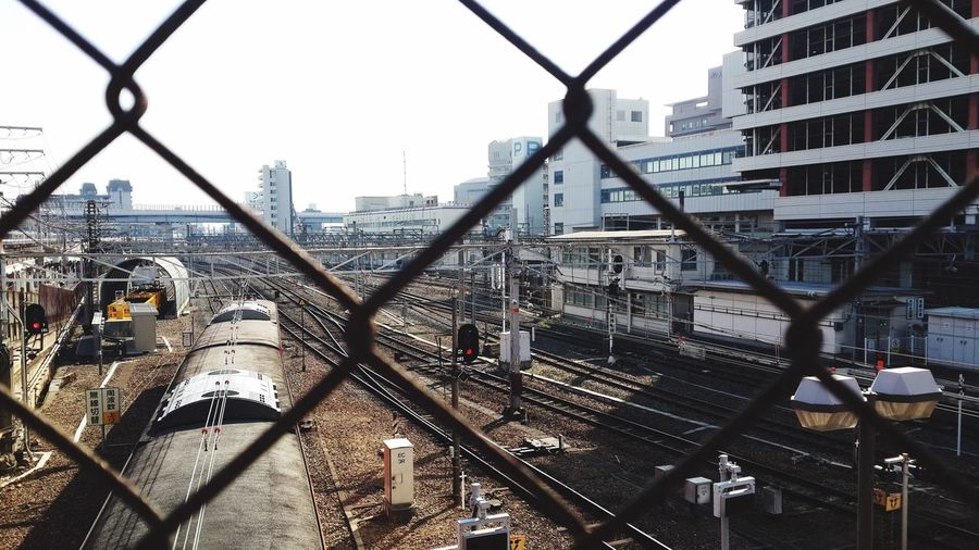 Transportation Tennoji Station Cold Temperature Rust Wire Osaka-shi,Japan Travel Train Tracks