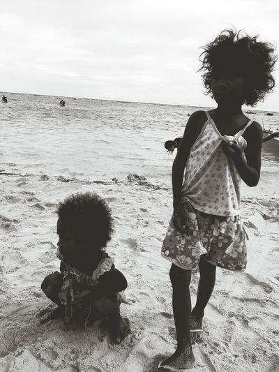 Children of the Sun Beach Blackandwhitephotography Children Cagayanvalley