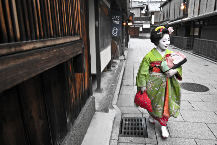 The Street Photographer - 2016 EyeEm Awards Adapted To The City Bokeh On The Way Coffee Time Composition EyeEm Woman Geisha Geta Japanese  Japanese Culture Japanese Style Kimono Kyoto, Japan Lucky One  Mask Music Portrait Of A Woman Street Streetphotography The Lucky One Up Close Street Photography Women Showcase March Ultimate Japan