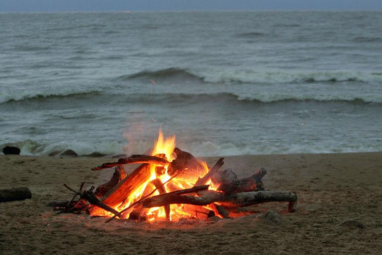 Bonfire on beach