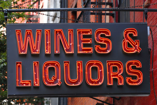Liquor Store Sign Red Spirits Wine Alcohol Liquor Neon Sign Sign Liquor Store