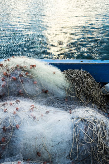 Net Netfishing Animal Themes Catch Of Fish Close-up Commercial Fishing Net Day Freshness Nature No People Outdoors Sea Sea Life Trapped Water Fishing Boat Water Vehicle Rope Moored Port Fishing Boat Fishing Industry