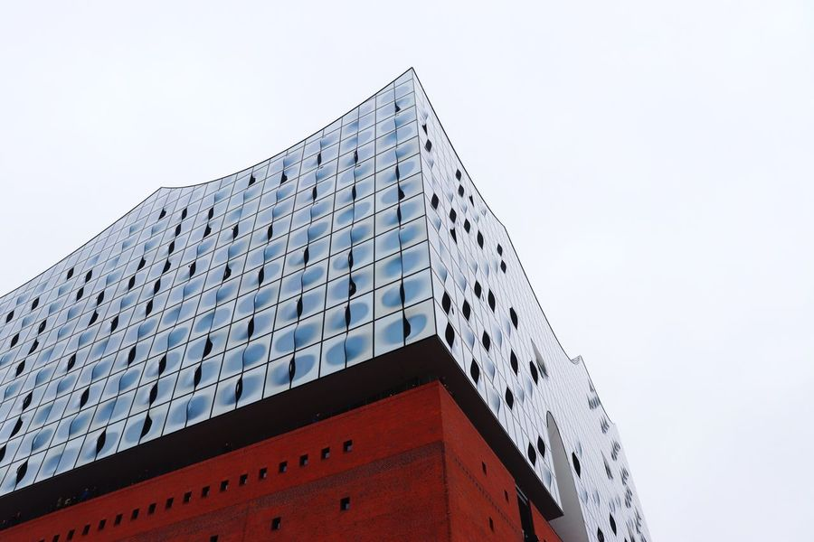 Elbphilharmonie EyeEm Selects Low Angle View Building Exterior Architecture Built Structure Sky Clear Sky Building No People City Outdoors Tall - High Travel