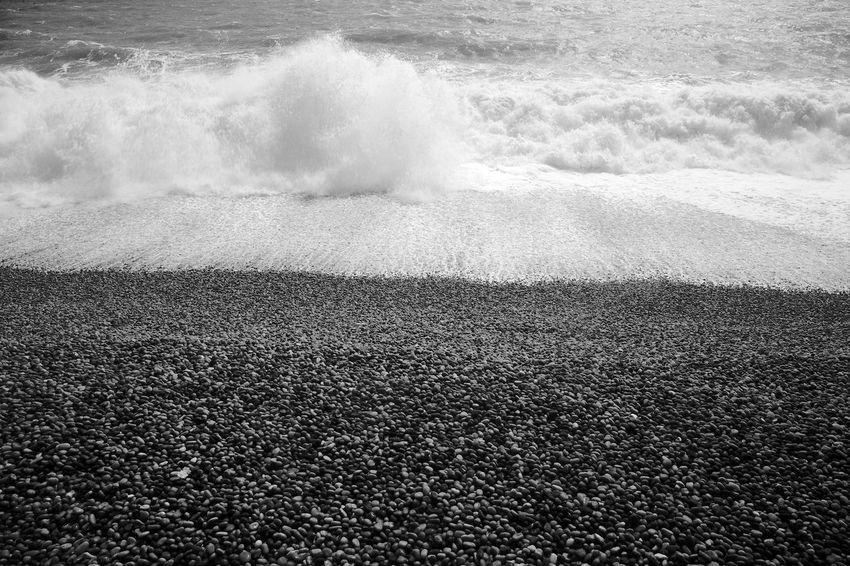 Surf's Up Beach Beauty In Nature Black And White Blackandwhite Breaking Crash Land Motion Nature Power Power In Nature Scenics - Nature Sea Splashing Water Wave