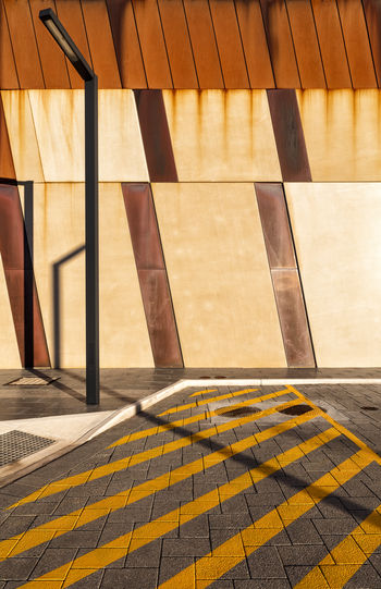 Architecture Diagonals No People Rust Shadows On The Wall Sunlight Wall Yellow