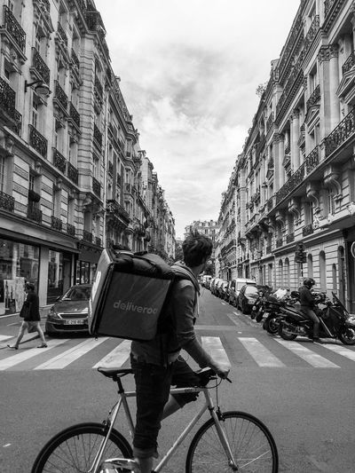 EyeEm Best Shots Building Exterior Bicycle Architecture Transportation Mode Of Transport City Built Structure Cycling Street Men Sky Land Vehicle City Life Outdoors Day Real People Road One Person One Man Only Adult From My Point Of View The Week On EyeEm