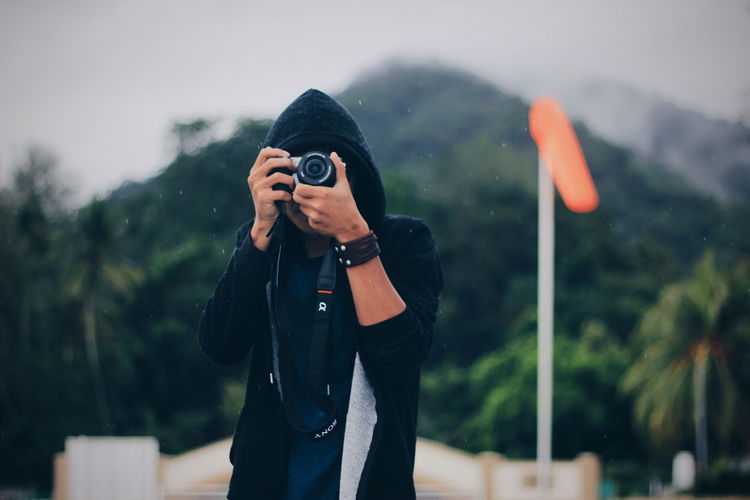 Photography Themes Camera - Photographic Equipment Photographing Standing Leisure Activity Photographer Outdoors Portrait Photography Portraiture Hangouts  With Friends Lifestyles Be. Ready. EyeEmNewHere Photooftheday Cloudy Day Rainy Days Cloudy Skies Sony A6000