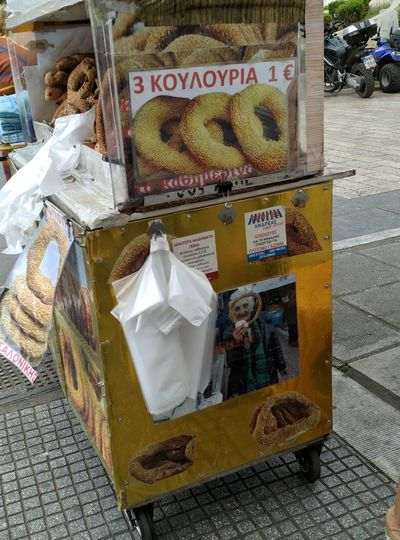 Information sign for sale at market stall