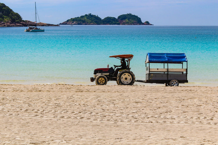 ASIA Redang Island Bay Beach Beauty In Nature Blue Clear Sky Day Island Malaysia Mode Of Transport Nature No People Outdoors Sand Scenics Sea Sky Terengganu Transportation Water