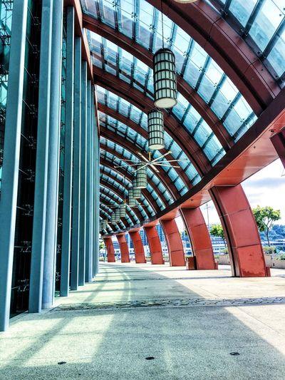Empty corridor in resorts world sentosa