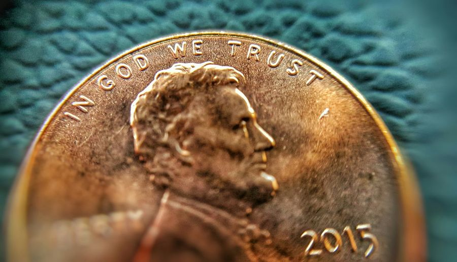 In GOD we trust. Penny Money Learn & Shoot: Simplicity Note 5