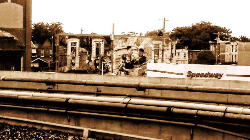 Center City Philadelphia Pa. Digital Artwork Digital Media Graphic Design City Railroad Track Rail Transportation Train - Vehicle Architecture Building Exterior Sky Built Structure Railroad Station Platform