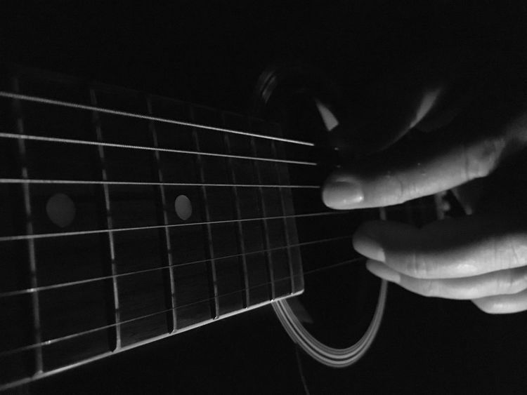 Close Up Close-up Playing Guitar Musical Instruments Music Is My Life Lefthanded Left Hand Acousticguitar Acoustic Guitar Acoustic Guitar Love Guitar Bnw_friday_eyeemchallenge Music Bnw B&w Blackandwhite Black And White Blackandwhite Photography Black & White Black And White Photography Black&white Blackandwhitephotography Black And White Collection  Monochrome Photography