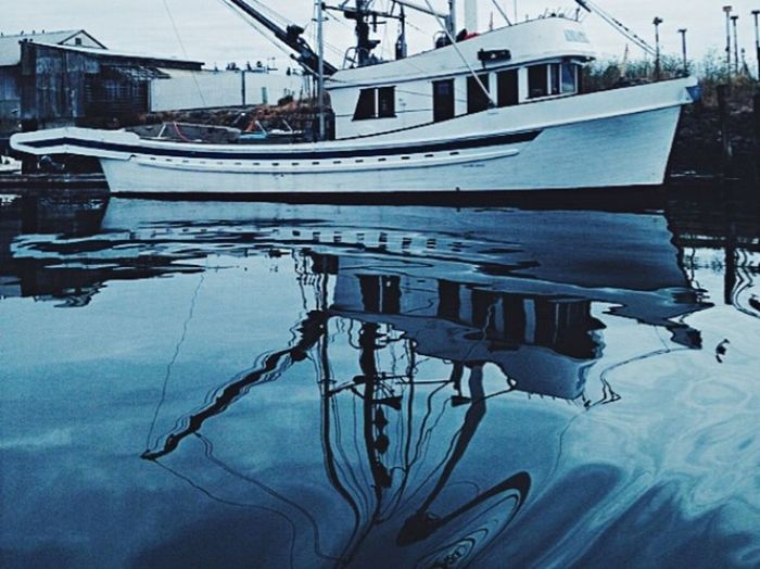 Wave Reflection Boats Marina Puget Sound Port Townsend IPhoneography Reflection Water Reflections Water IPSReflections IPSMotion
