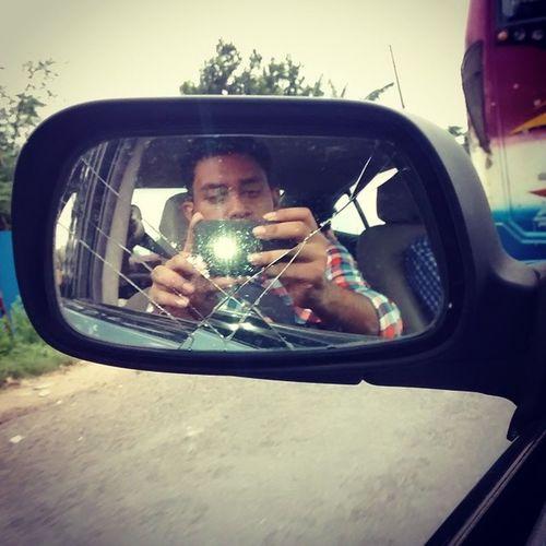 Journey Carselfie Selfie Brokenmirror