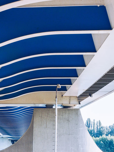 Bridge - Man Made Structure City Modern Abstract Blue Pattern Architecture Close-up Building Exterior Geometric Shape Semi-circle Architectural Detail Geometry Architecture And Art LINE Full Frame Architectural Design Striped Architectural Feature